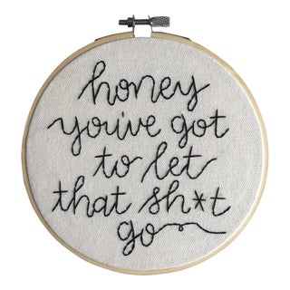 Made to Order Minimalist Sage Advice Embroidery Textile Art