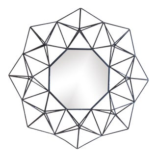Geometric Metal Wall Hanging Mirror For Sale