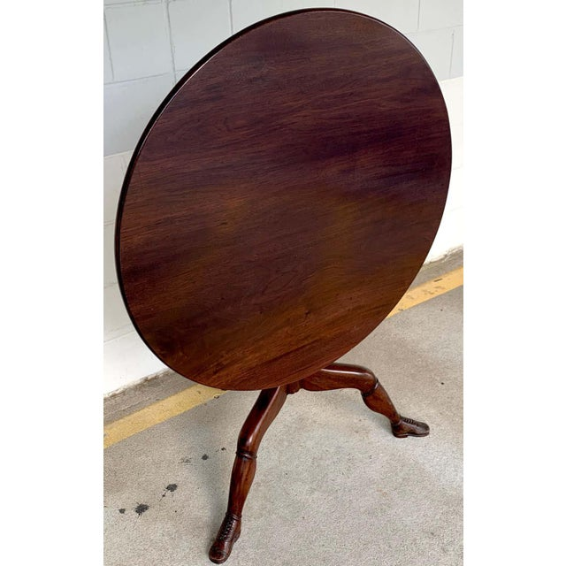 19th Century English Lady Leg Birdcage Tilt Top Table For Sale - Image 9 of 12