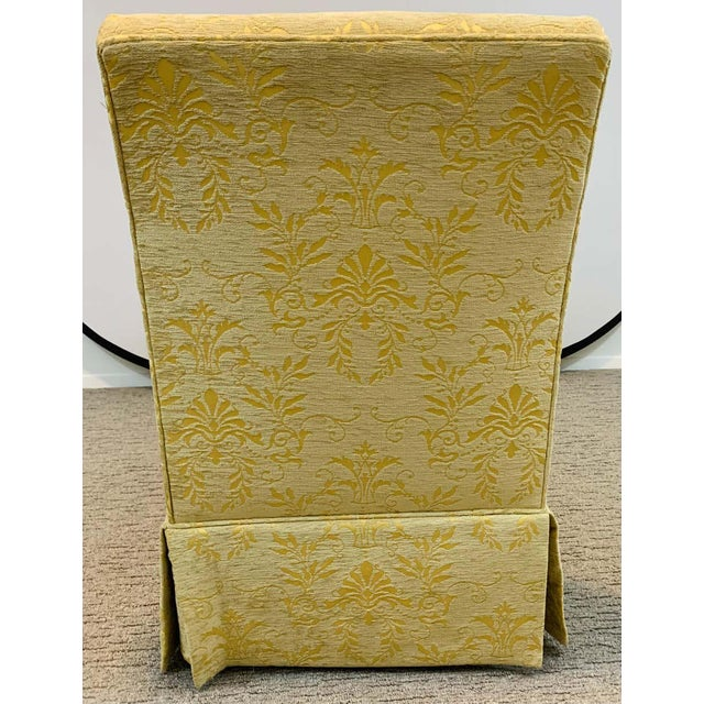 French Art Deco Style Yellow Gold Bench or Window Seat After Dominique, a Pair For Sale - Image 12 of 13