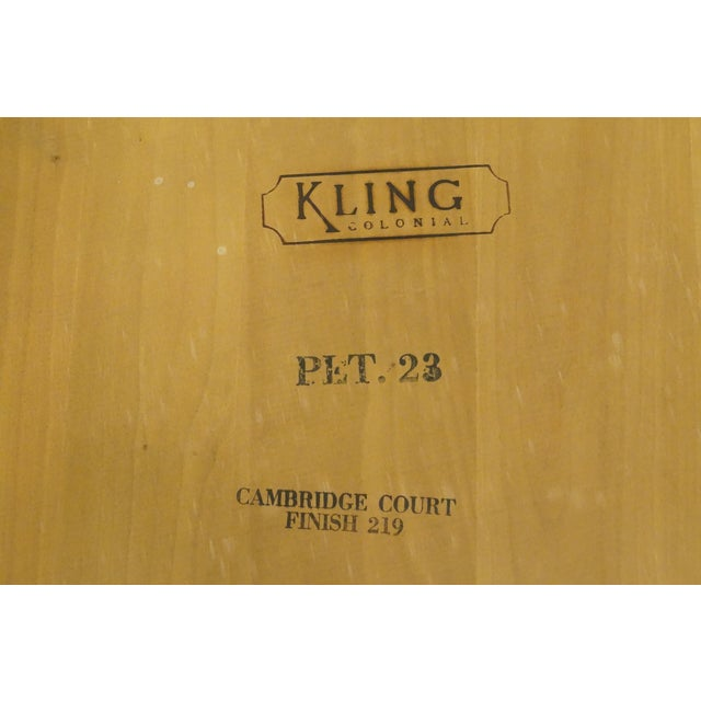 20th Century British Colonial Kling Solid Cherry Hexagonal Storage End Table For Sale - Image 11 of 13