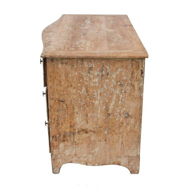 French Stripped Pine Three-Drawer Commode For Sale - Image 3 of 5