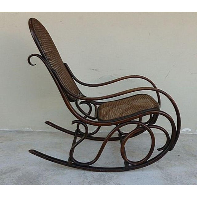 Original Condition Signed Thonet Bentwood Rocker Circa 1896 For Sale - Image 11 of 11