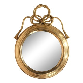 Brass Rope & Tassel Mirror For Sale