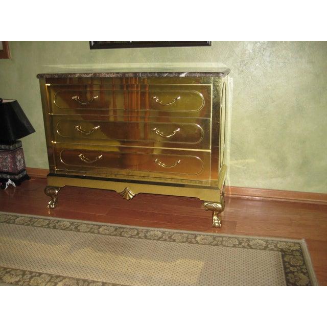 Vintage Harden Furniture Brass Chest For Sale In Philadelphia - Image 6 of 6