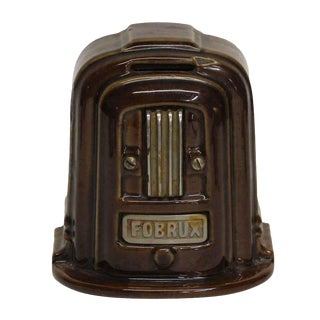 Vintage Brown Coin Bank For Sale
