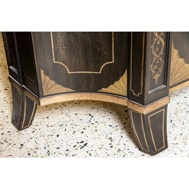Metal Black Marble Top Cabinet For Sale - Image 7 of 8