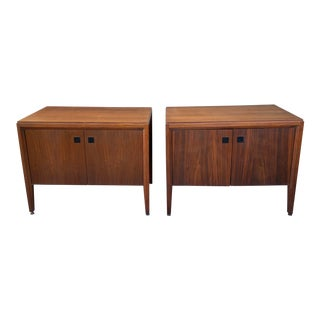 Mid-Century Modern Floating End Table Cabinets - a Pair For Sale