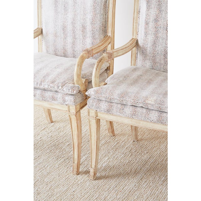 Pair of Neoclassical Regency Style Armchairs or Library Chairs For Sale - Image 12 of 13