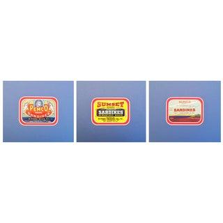 1930-40s American Sardine Labels - Set of 3