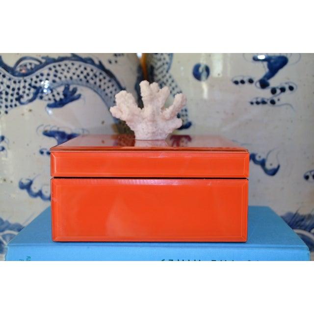 Coral & Orange Glass Trinket Box - Image 3 of 11