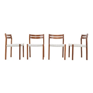 Danish Modern Teak Dining Chairs by Jorgen Henrik Møller for j.l. Moller - Set of 4 For Sale