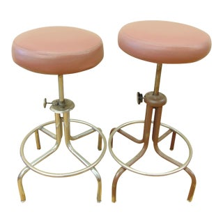 Industrial Adjustable Drafting Stools