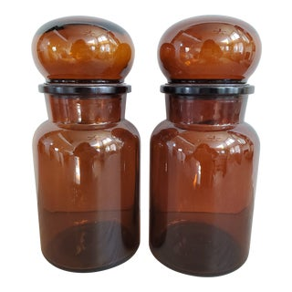 Belgian Apothecary Jars, a Pair For Sale