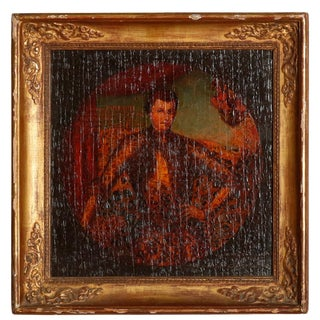 19th Century Antique Old Master Premier Faux-Dmitriy Russian Imperial Portrait Oil on Board Painting For Sale