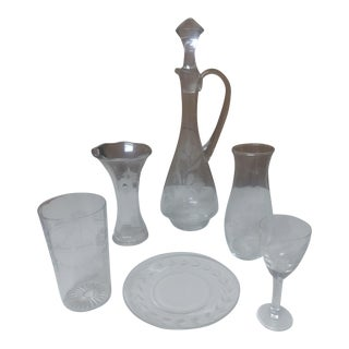 Vintage Mikasa Decanter Set - 7 Piece For Sale