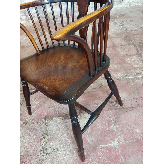 18th Century George III Windsor Chairs - Set of 6 For Sale In Los Angeles - Image 6 of 10