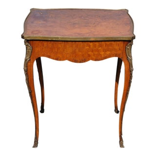Late 19th Century Louis XVI Bronze Mounted Occasion Table For Sale