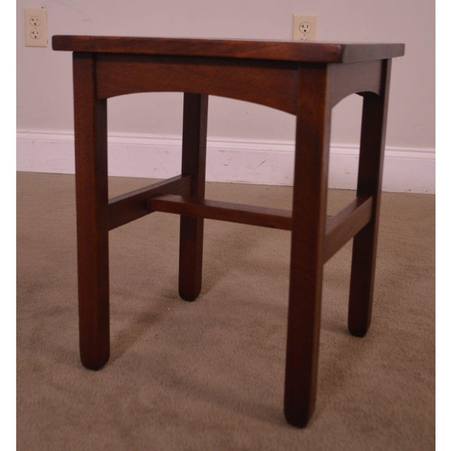 Antique Mission Style Mahogany Taboret Side Table For Sale - Image 4 of 13