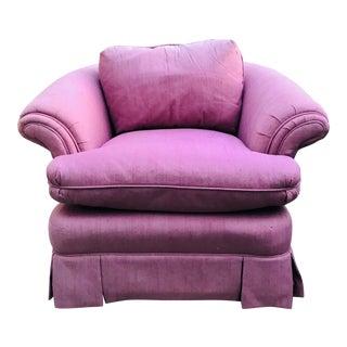Prewar Art Deco Barrel Back Swivel Club Arm Chair in Blush Pink For Sale
