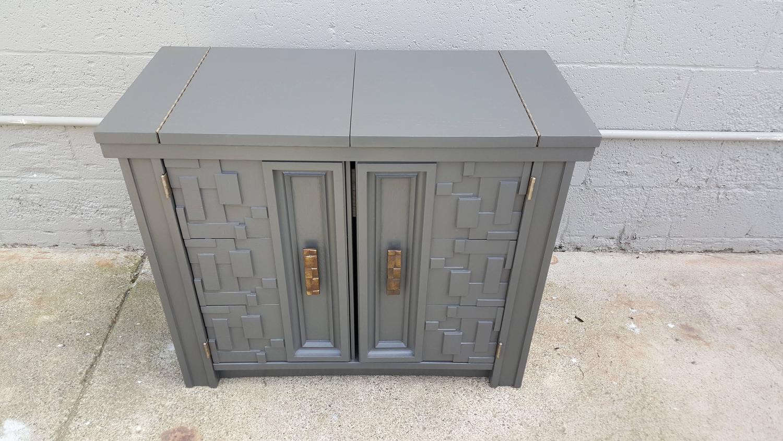 Brutalist Flip Top Bar Cabinet   Image 4 Of 9