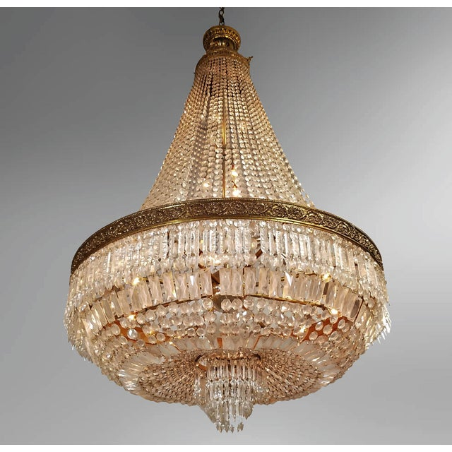 Empire Circa 1920 French Empire Style Chandelier For Sale - Image 3 of 6