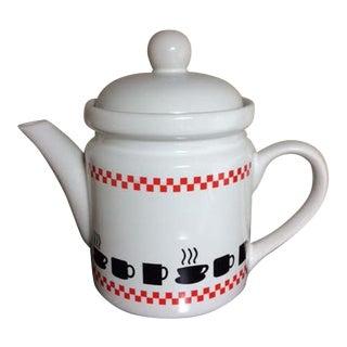 Vintage Ceramic Teapot & Coffee Server For Sale