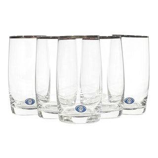 Slovakia Gilt Rim Glass Tumblers, Set of 5 For Sale