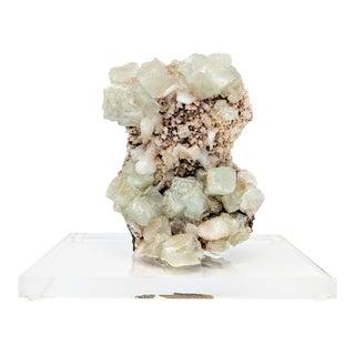 Crystal Specimen on Lucite Base For Sale