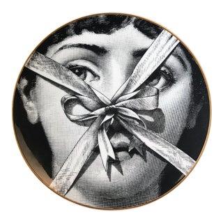 Vintage Rosenthal Porcelain Fornasetti Temi E Variazioni Motiv 32, Lina Cavalieri, With Original Box. For Sale