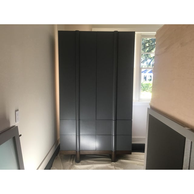 Vintage Modern Black Lacquered Armoire - Image 7 of 7
