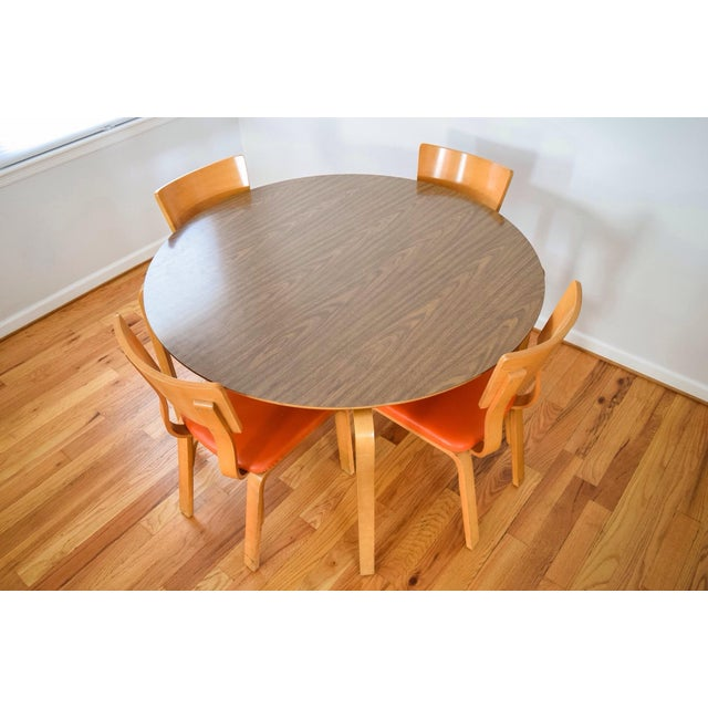 Mid-Century Thonet Bentwood Table & Chairs For Sale - Image 5 of 10