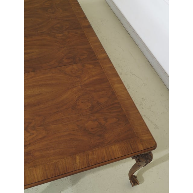 1980s Traditional Karges Ball & Claw Walnut Dining Room Table For Sale - Image 11 of 13