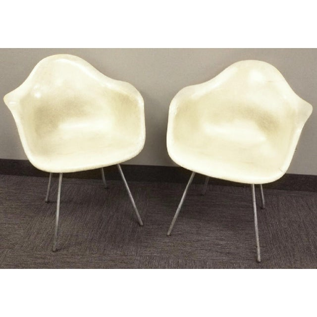 Americana Last Call 1951 Eames Roped Edge Dax Zenith Armchairs - a Pair For Sale - Image 3 of 6