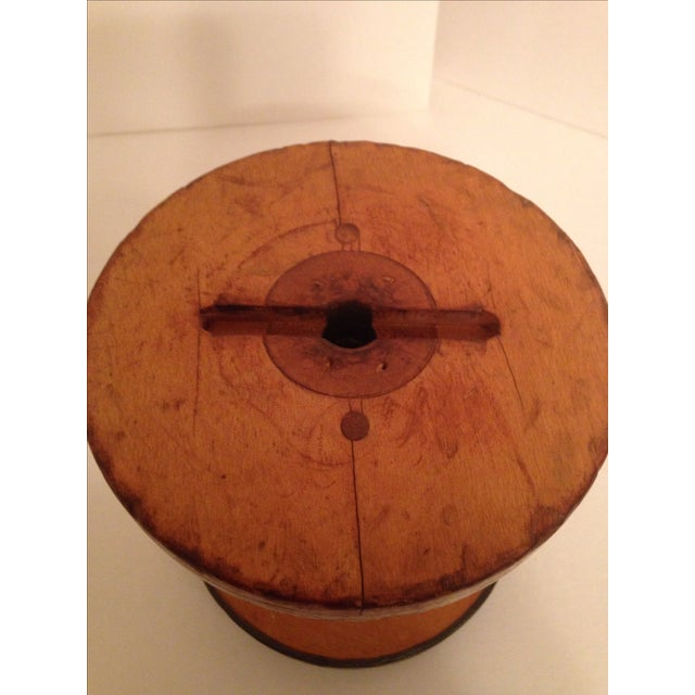 Vintage Vermont 1940 Industrial Wooden Spool - Image 4 of 6