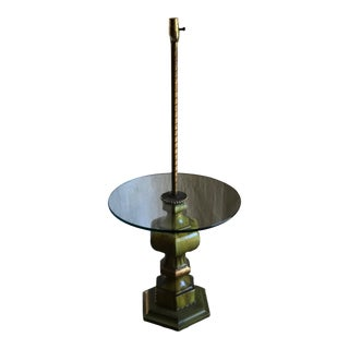 Retro Floor Lamp and Table For Sale