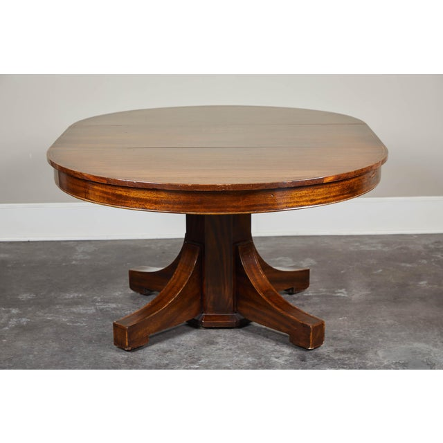 Aesthetic Movement 19th C. English Mahogany Pedestal Table For Sale - Image 3 of 9
