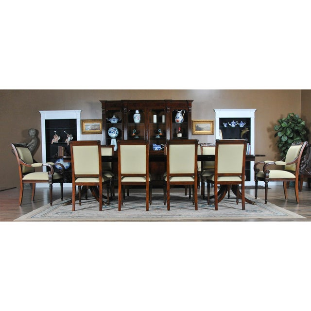 The Carved Empire Upholstered Side Chair by Niagara Furniture with carved top rail features a fully upholstered back which...