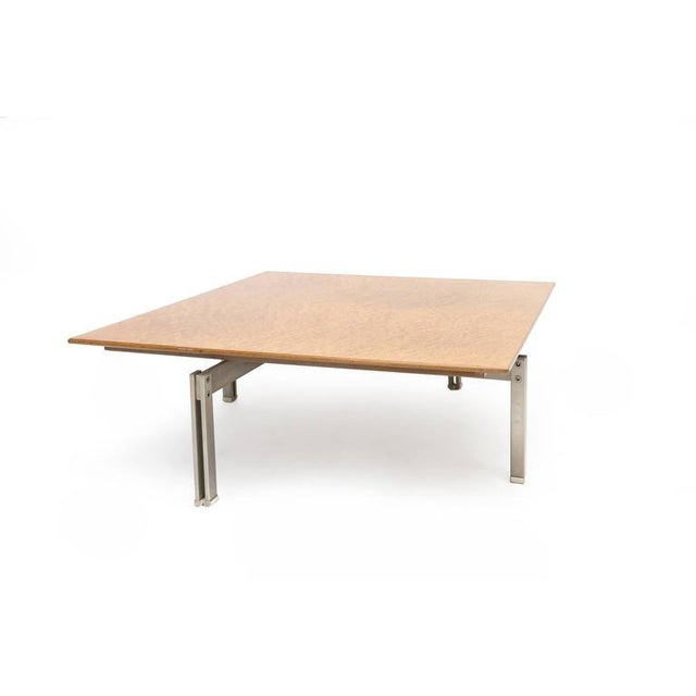 1960s Burl Top Mid-Century Modern Coffee Table For Sale - Image 5 of 7