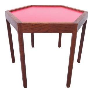 Danish Modern Hans Andersen Teak Hexagonal Side Table For Sale