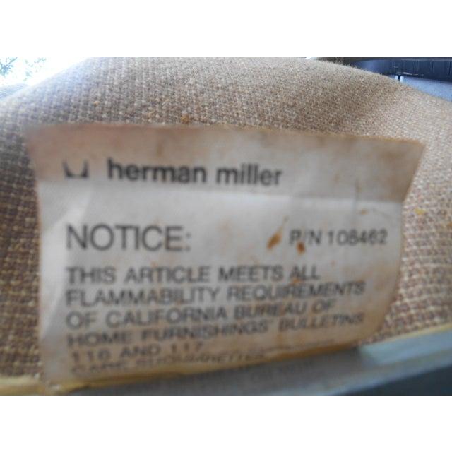 Metal Vintage Herman Miller Padded Swivel Lounge Chair For Sale - Image 7 of 10