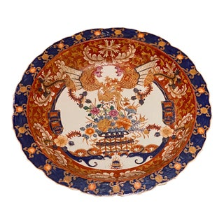 Chinese Imari Porcelain Charger For Sale