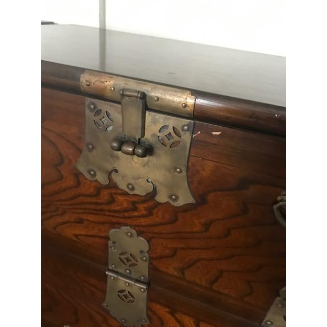 Brass Hardware Chinese Nightstands - A Pair - Image 9 of 10