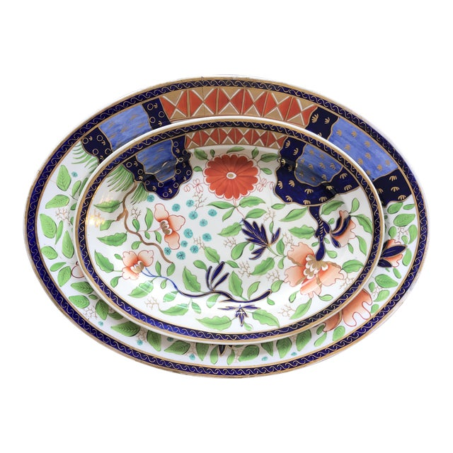 1820s Gaudy Ironstone Platters - a Pair For Sale