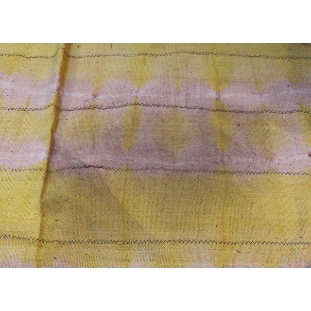 Primitive Vintage Yellow Textile For Sale - Image 3 of 4