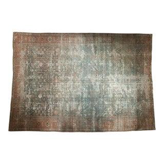 "Vintage Distressed Mahal Carpet - 11'9"" X 17'4"""