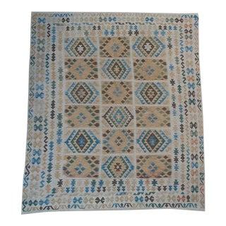 "Afghani Design Vegetable Dyed Wool Kilim Rug - 8'3"" x 9'5"""