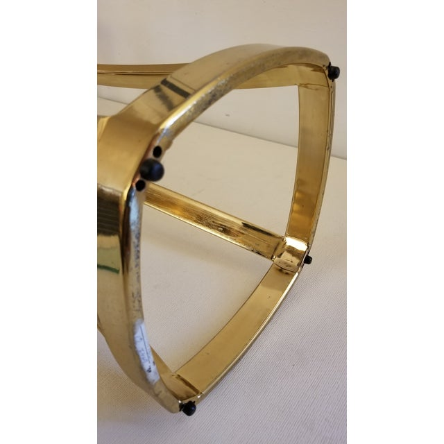 1970s 1970s Solid Brass Art Pedestal For Sale - Image 5 of 9