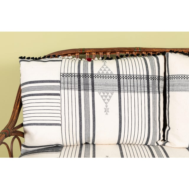 White 1920s Bent Wood Loveseat Settee With Injiri Upholstery For Sale - Image 8 of 10