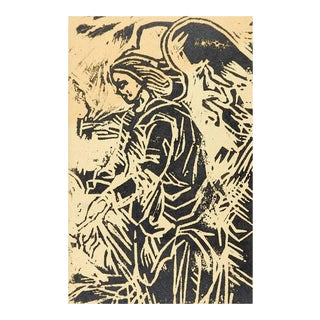 Driscoll Angel Block Print For Sale